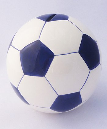 Agnik Design Blue Soccer Ball Money Bank