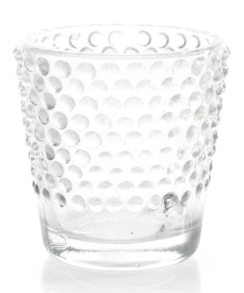 Clear Dot Heirloom Votive Candleholder