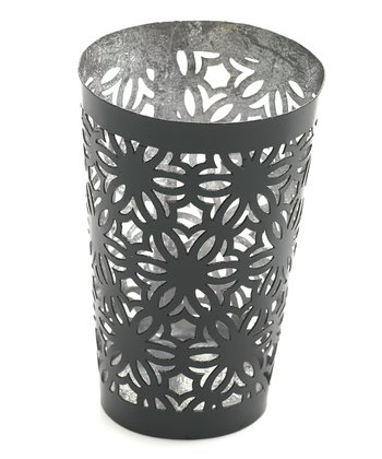 Gray Glimmer Large Votive Holder