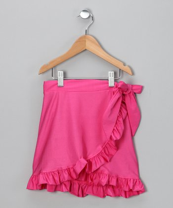 Fuchsia Swim Skirt - Girls