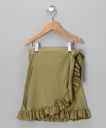 Green Swim Skirt - Girls