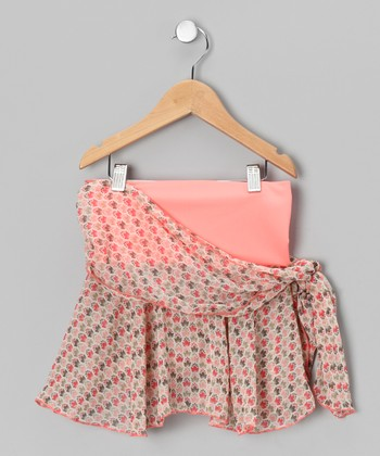 Red Tulip Side-Tie Wrap Skirt - Girls