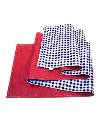 Farm Gingham Reversible Table Runner