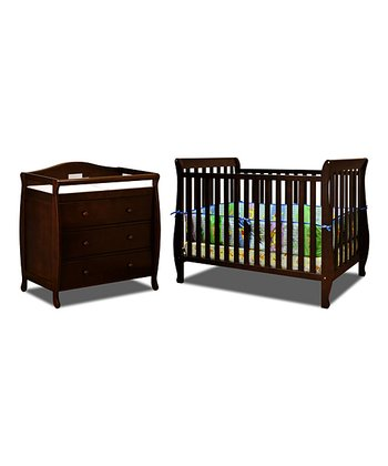 AFG baby furniture Espresso Naomi Convertible Crib & Changer