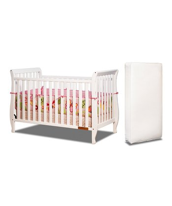 AFG White Naomi Convertible Crib & Mattress