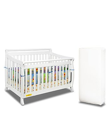 AFG baby furniture White Amy Convertible Crib & Mattress