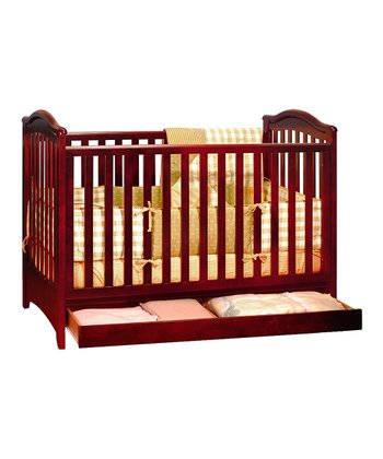 AFG baby furniture Cherry Jeanie Convertible Crib & Mattress