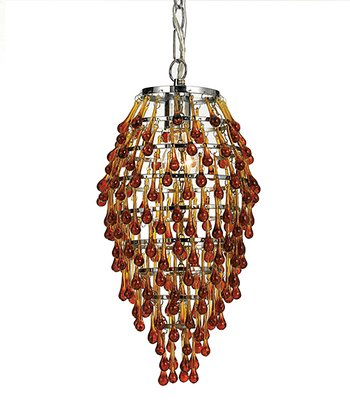 Amber Crystal Teardrop Chandelier
