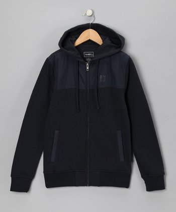Dark Navy Kimmel Zip-Up Hoodie - Boys