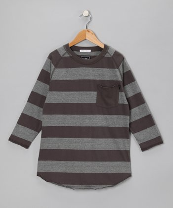 Gray Sonnen Stripe Tee - Boys