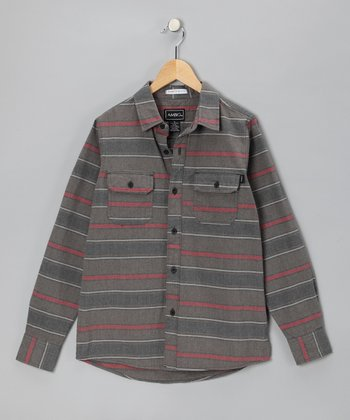 Sable Stripe Banuelos Button-Up - Boys