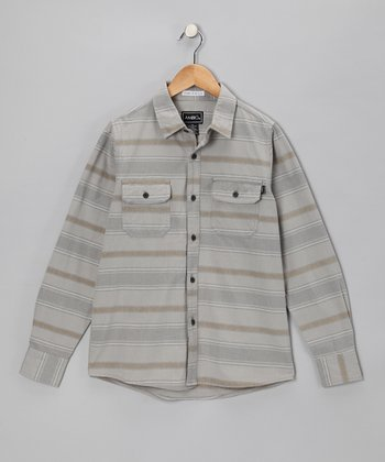 Stone Stripe Banuelos Button-Up - Boys