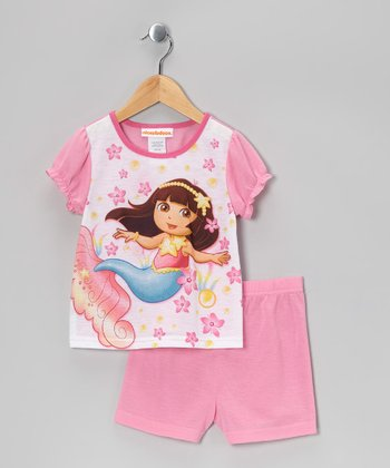 Pink Dora Shorts Pajama Set - Infant & Toddler