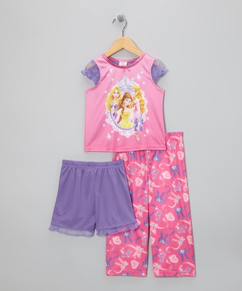 Pink Princess Trio Pajama Set - Toddler