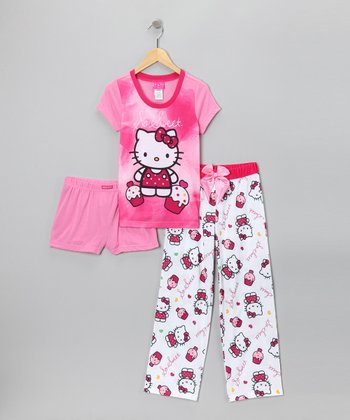 Pink Hello Kitty 'So Sweet' Pajama Set - Girls