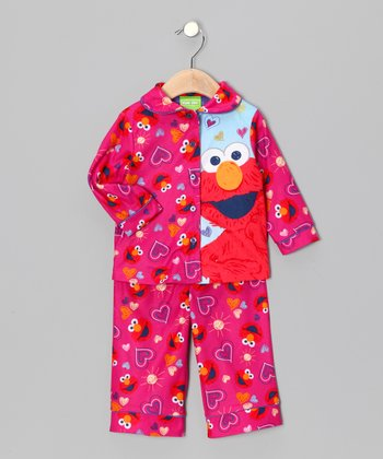 AME Pink Elmo Hello Sunny Sky Top & Pants - Infant