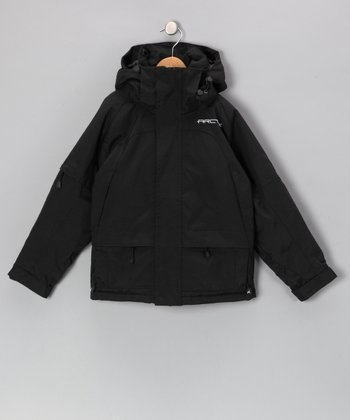 Black Performance Ski Jacket - Boys