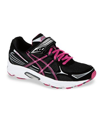 Black & Pink Pre Galaxy 5 PS Running Shoe - Girls