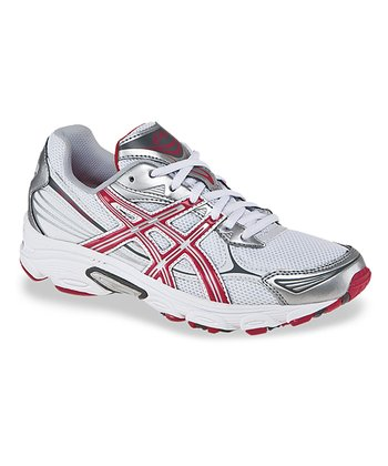 White & Red GEL-Galaxy 5 Running Shoe - Women