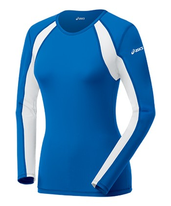 Royal Blue & White Heater Long-Sleeve Top - Women