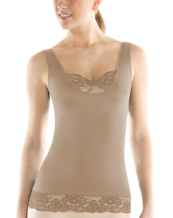 Nude Chic Peek Lace Shaper Tank - Women