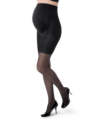 Black Maternity Shaper Fishnet Tights - Women