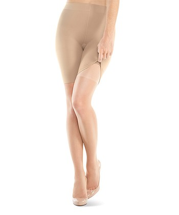 Nude Ultra-Sheer Shaper Shorts & Thigh-Highs - Women