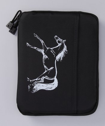 Black Galloping Horse Case for iPad