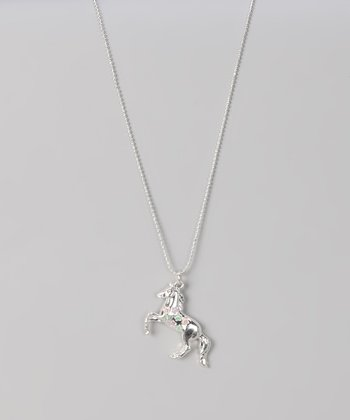 Rearing Horse Pendant Necklace