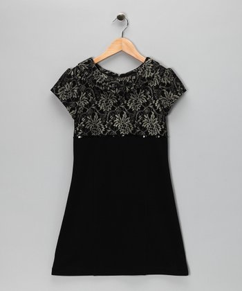 Black Ponte Dress - Girls