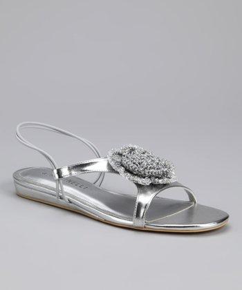 A. Marinelli Silver Drew Sandal