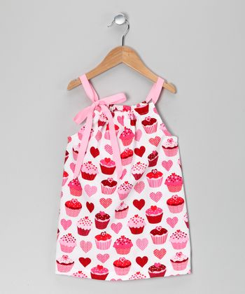 Pink & White Little Cupcake Dress - Infant & Toddler