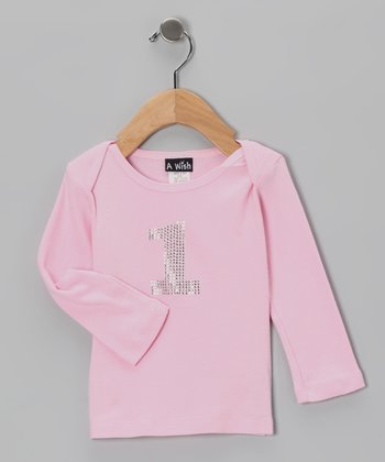 Pink '1' Long-Sleeve Tee - Infant