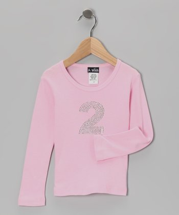 Pink '2' Long-Sleeve Tee - Toddler