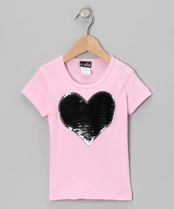 Pink & Black Heart Short-Sleeve Tee - Infant