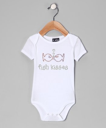 White 'Fish Kisses' Bodysuit - Infant