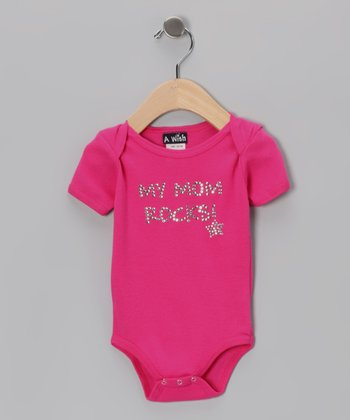 Fuchsia 'My Mom Rocks!' Bodysuit - Infant