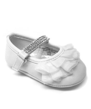 Aadi White Ruffle Mary Jane