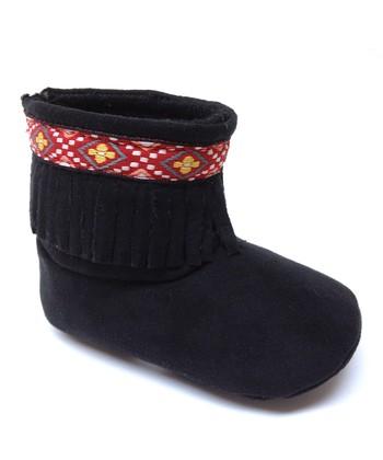 Aadi Black Fringe Boot