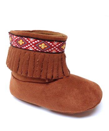 Aadi Chestnut Fringe Boot