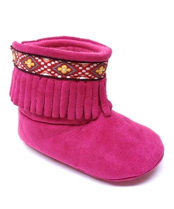 Aadi Fuchsia Fringe Boot