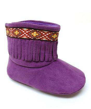 Aadi Purple Fringe Boot