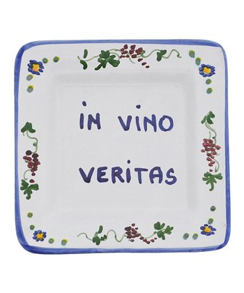 'In Wine There is Truth' Italian Proverb Tray