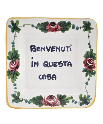 'Welcome to This House' Italian Proverb Tray