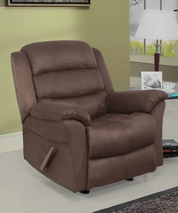 Brown Microsuede Sydney Rocker Recliner