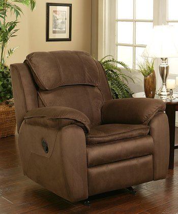 Dark Brown Microsuede Harbor Rocker Recliner
