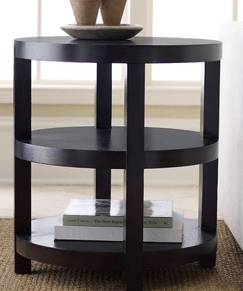 Espresso Morgan Round End Table