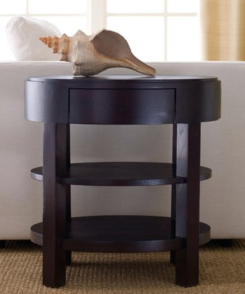 Espresso Morgan Ellipse End Table