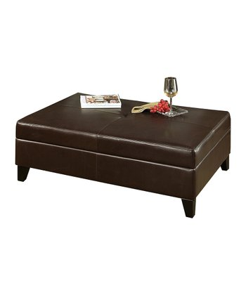 Frankfurt Medium Leather Storage Ottoman