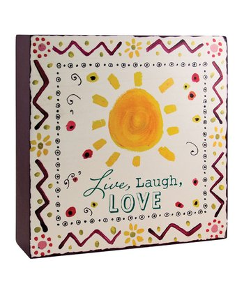 'Live, Laugh, Love' Wood Plaque
